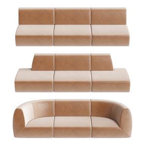 3D modular sofas stellar works