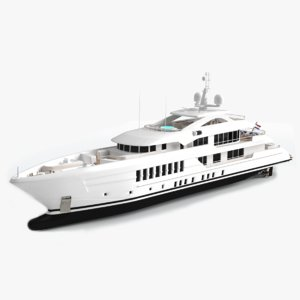 heesen pollux luxury yacht model