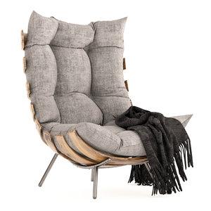3D rib chair