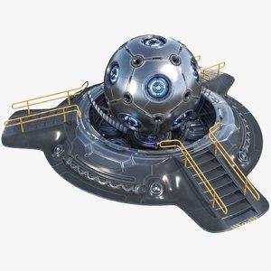 3D sci-fi hyper core pbr