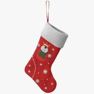 3D christmas stocking deer