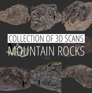 scan mountain stone slope 3D model