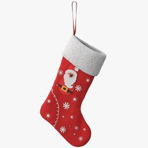 christmas stocking santa 3D
