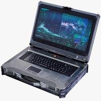 Sci-Fi Futuristic Laptop Rigged