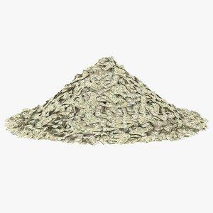 20 dollar bill pile model