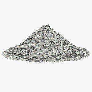 100 dollar bill pile model