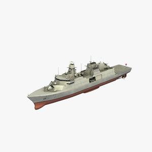 3D model type 31 frigate