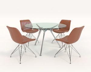 3D contemporary design chair model