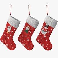 Christmas Stockings Vray PBR