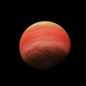 3D model alien planet