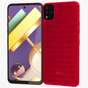 realistic lg k42 red 3D