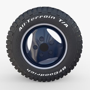3D range rover classic wheel