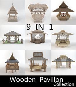 3D wooden pavilion