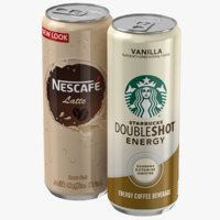 Starbucks And Nescafe Coffee Cans Collection