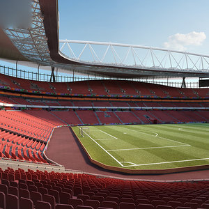3D model emirates stadium