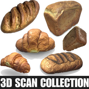 scan flour bread 3D