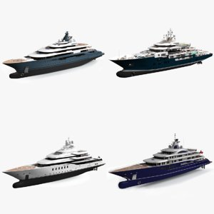 luxury yacht lurssen vessel model
