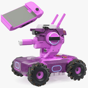 3D mini tank drone gamepad model