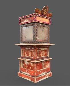 3D old fortune teller machine model