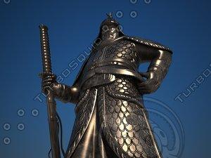 3D admiral yi statue