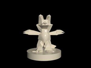 white wolf - print 3D model