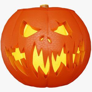 jack-o halloween pumpkins scary 3D model