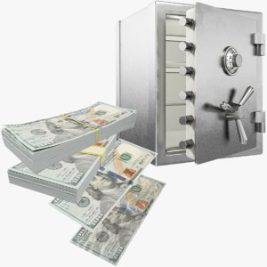 dollars safe v1 money 3D model