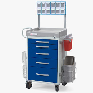 3D model detecto medical cart organizer