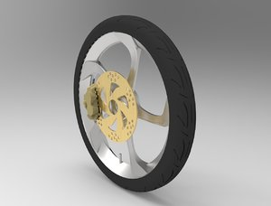 motorcycle tire sportrims 3D model