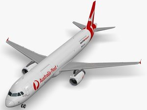 airbus aircraft qantas freight 3D