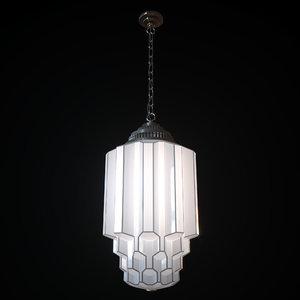 3D art deco light