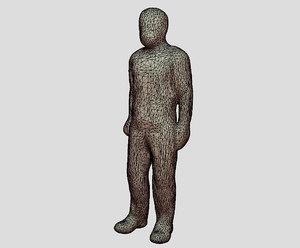 3D male figure