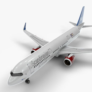 3D a321 neo scandinavian airlines model