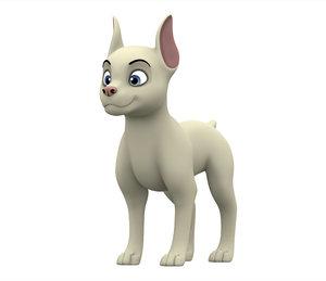 3D doberman puppy