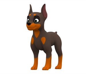doberman puppy 3D