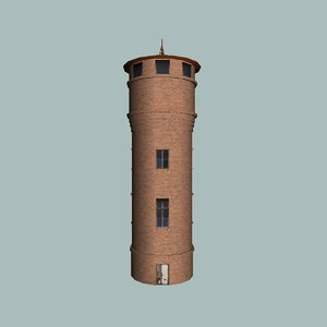 3D watertower brick