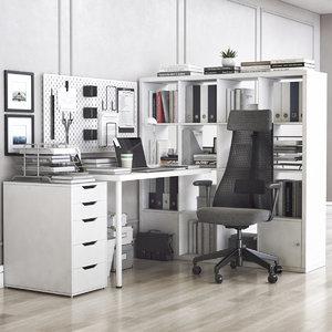 3D office kallax table