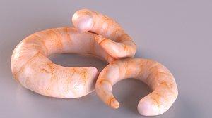 prawn shrimp 3D