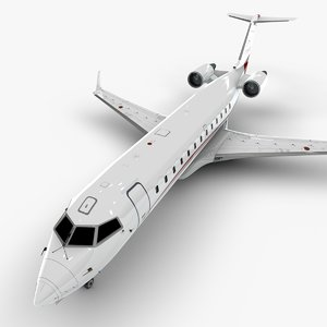 aviation bombardier crj 200 3D model