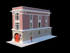 ghostbuster s firestation 3D model