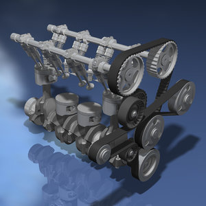 i4 engine 4 3d model