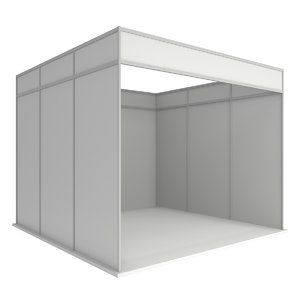 trade booth box white 3D model
