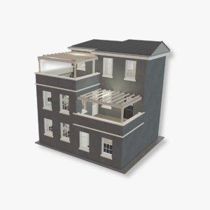 story house mansion model