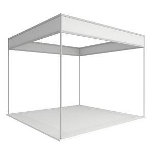 trade booth box white model