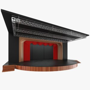 real theater stage 3D model