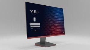 3D model modeled monitor
