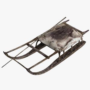 3D model sledge sled