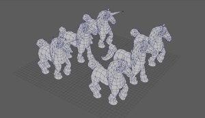 horses animations model