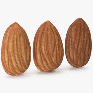 3D model almonds settings