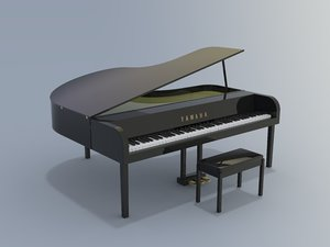 3D clavinova piano model